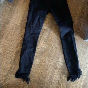 Frame denim high waisted skinny jeans